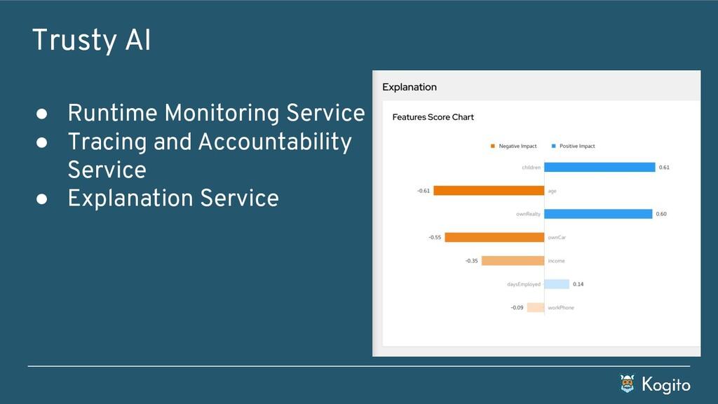 Trusty AI ● Runtime Monitoring Service ● Tracin...