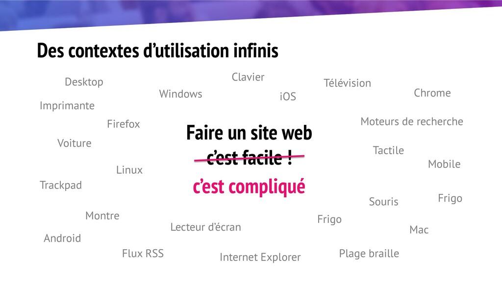 Des contextes d'utilisation infinis Desktop Mob...