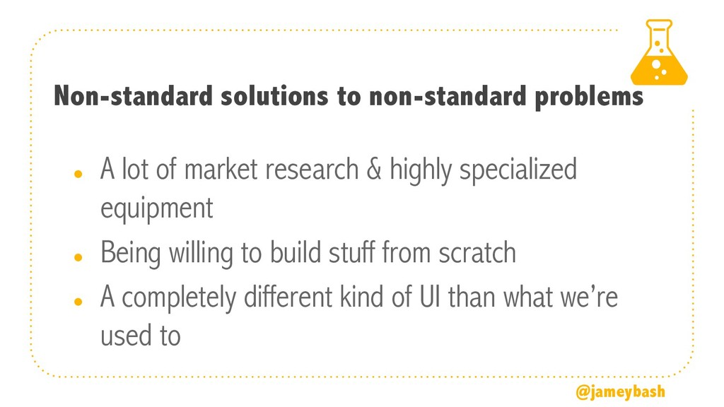 Non-standard solutions to non-standard problems...