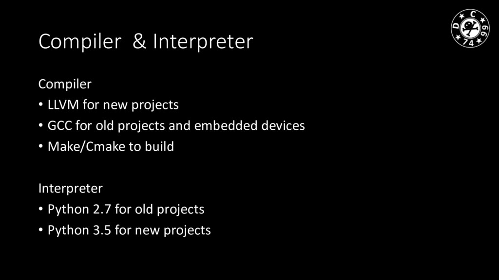 Compiler & Interpreter Compiler • LLVM for new ...