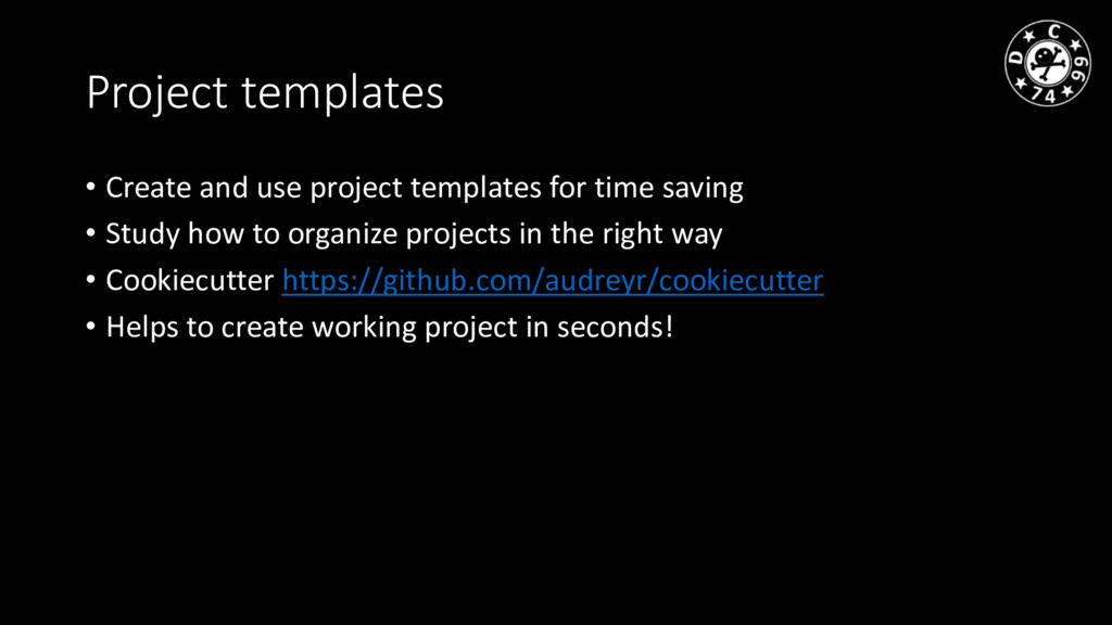 Project templates • Create and use project temp...