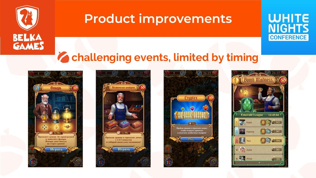 challenging events, limited by timing