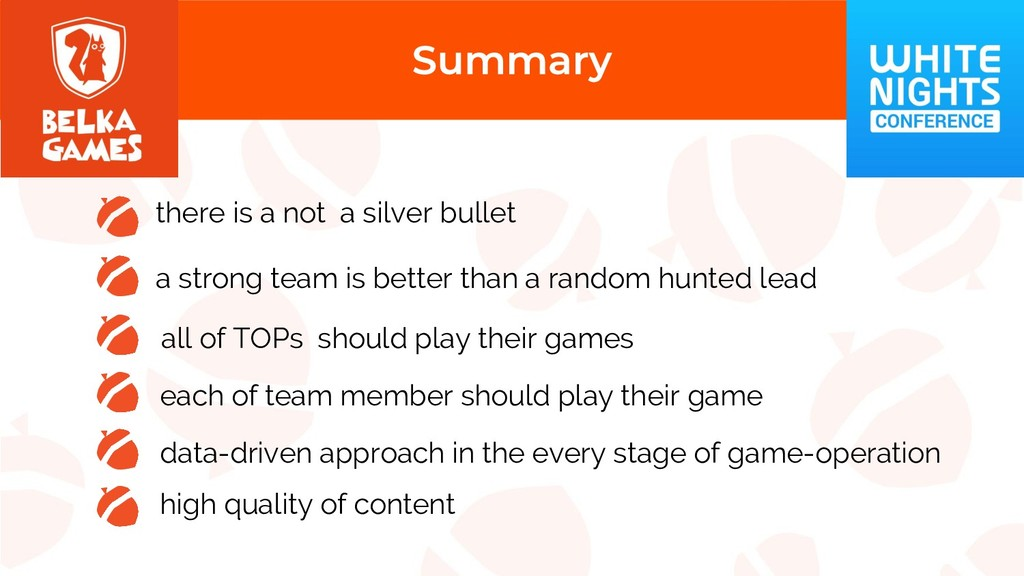 there is a not a silver bullet a strong team is...