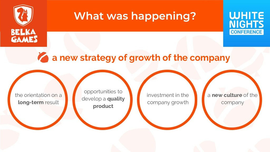 a new strategy of growth of the company the ori...