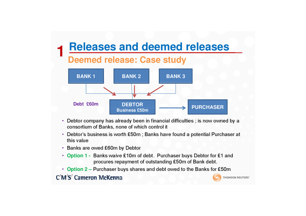 D d l C t d 1 Releases and deemed releases Deem...