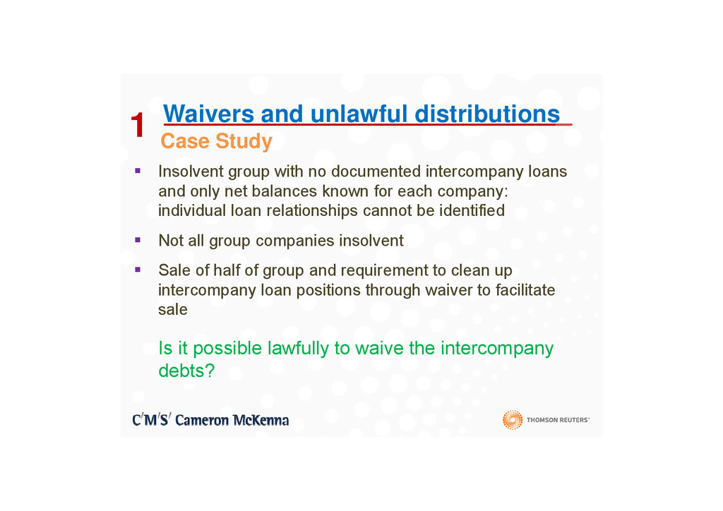 1 C St d Waivers and unlawful distributions 1 ...