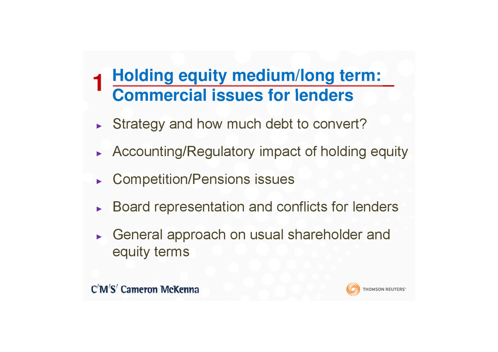 1 Holding equity medium/long term: Commercial i...
