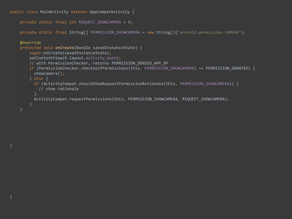 public class MainActivity extends AppCompat...