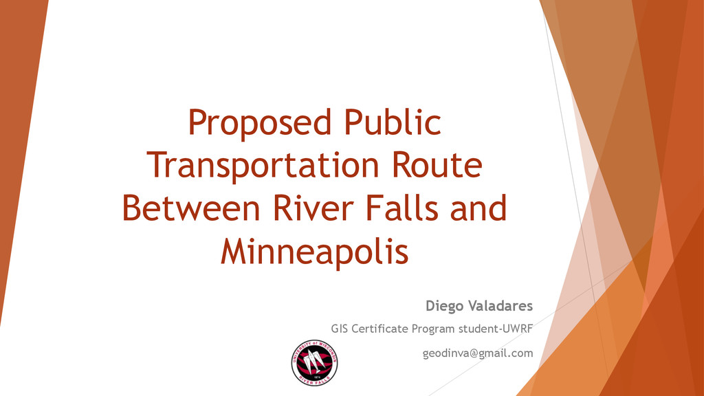 Proposed Public Transportation Route Between Ri...