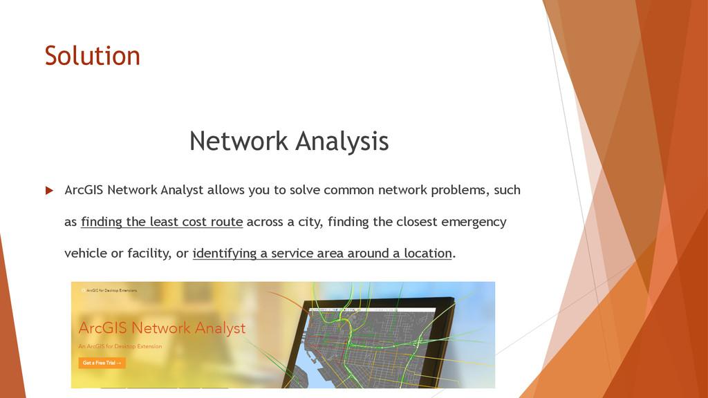 Solution Network Analysis u ArcGIS Network An...