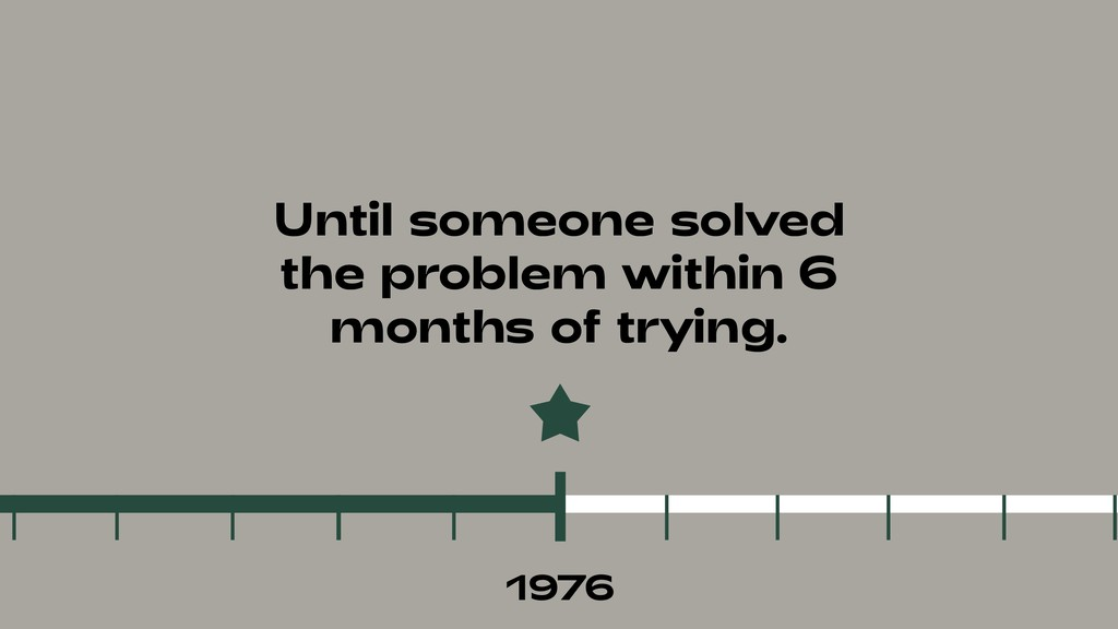 Until someone solved the problem within 6 month...