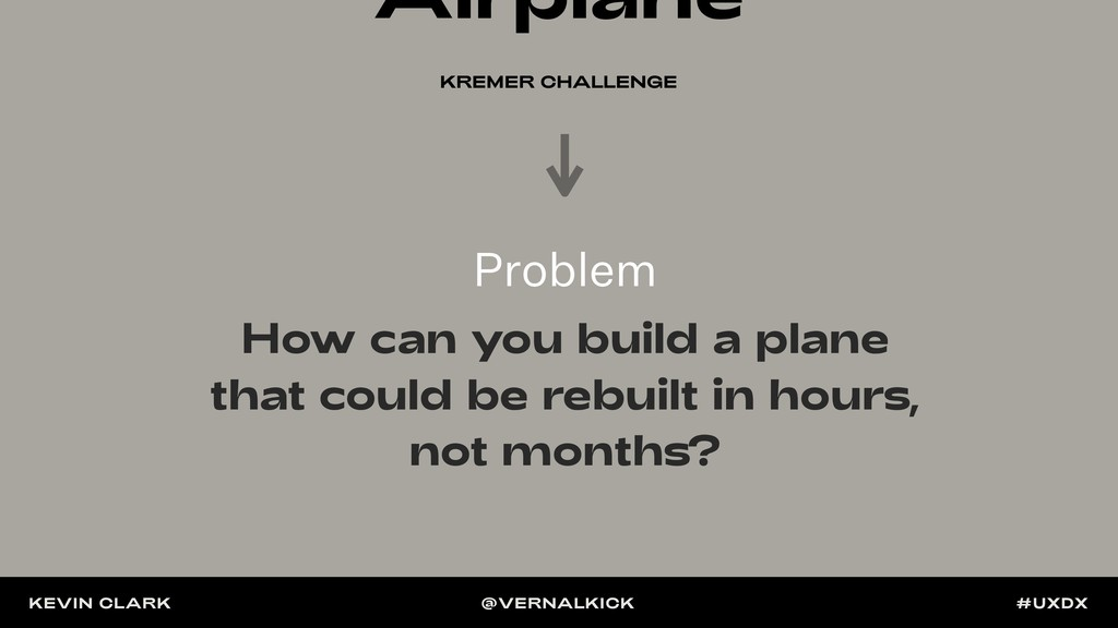 Airplane KREMER CHALLENGE How can you build a p...
