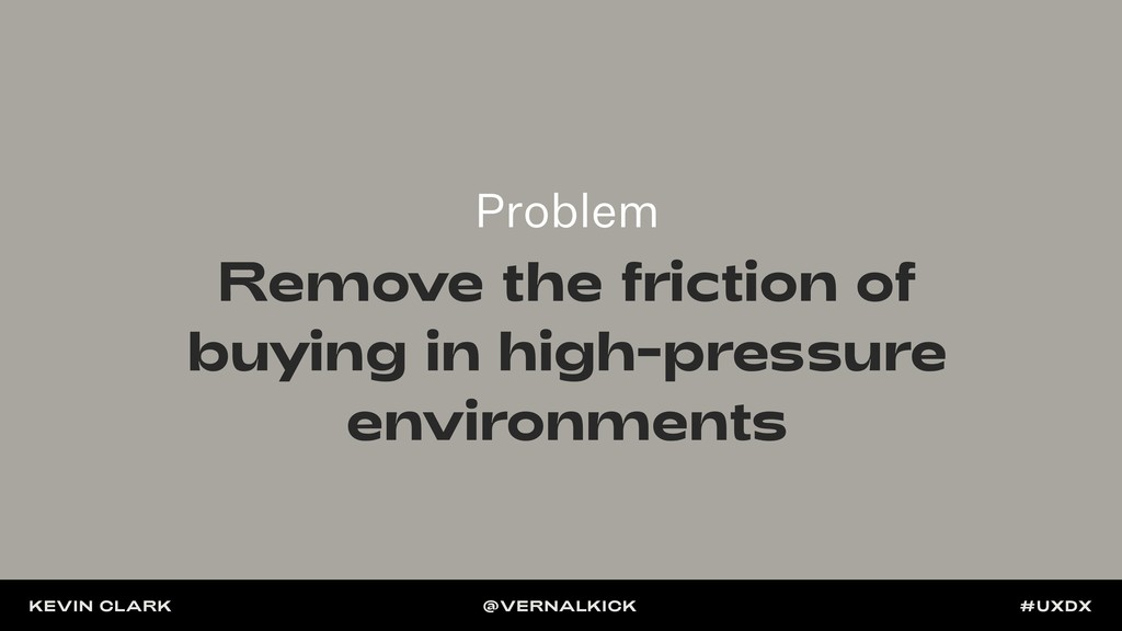 Problem Remove the friction of buying in high-p...