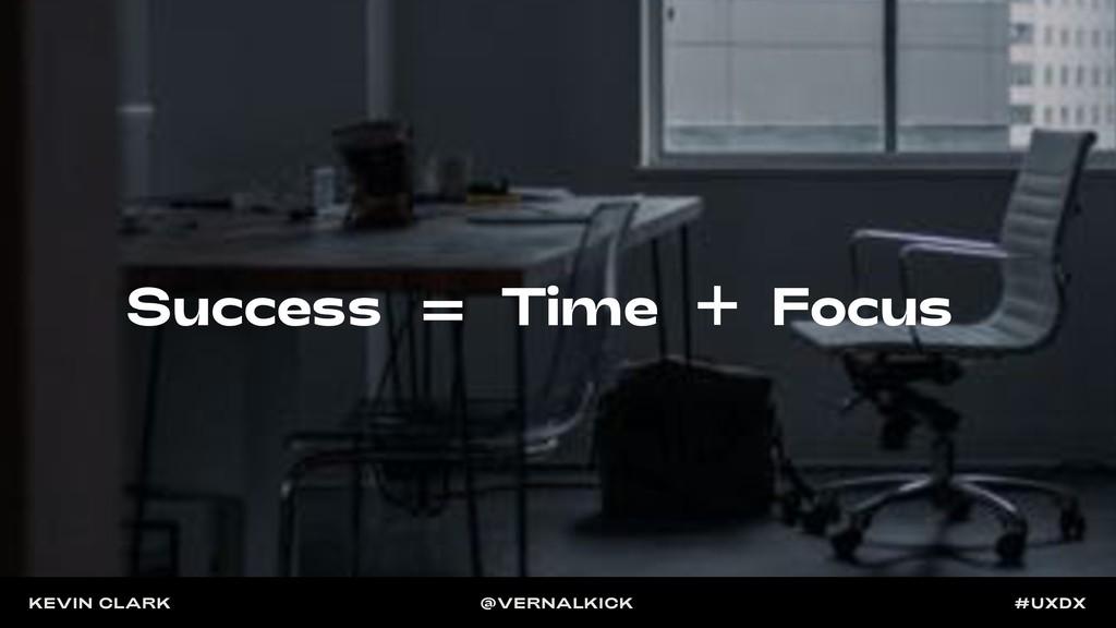 Focus Time Success KEVIN CLARK @VERNALKICK #UXDX