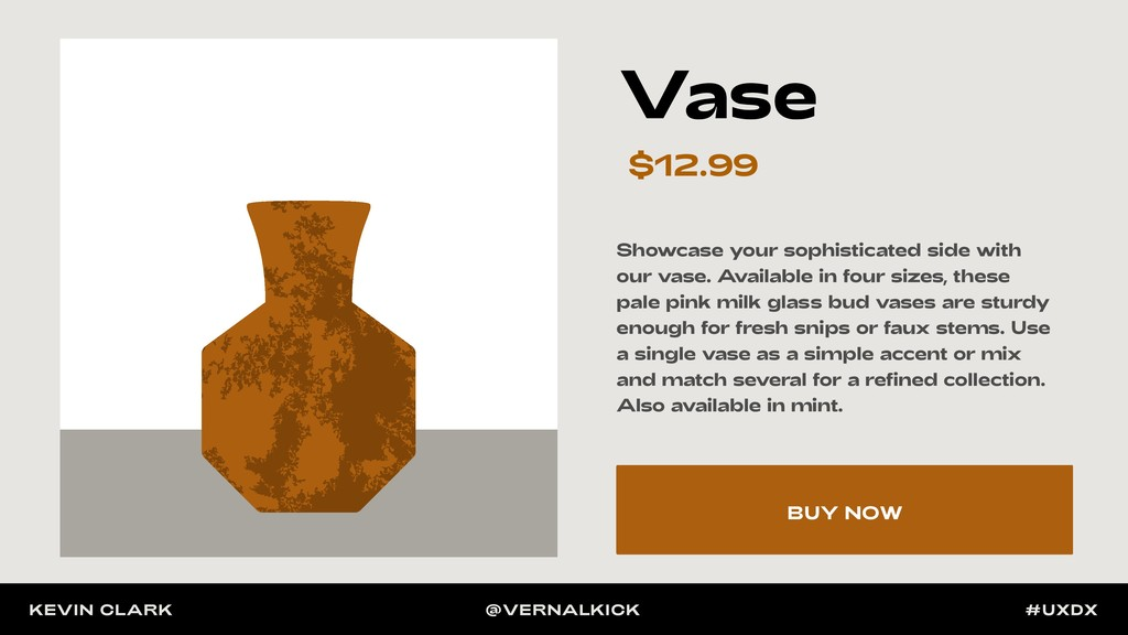 Vase $12.99 Showcase your sophisticated side wi...