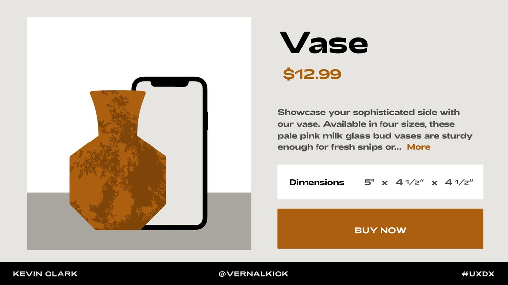 Showcase your sophisticated side with our vase....