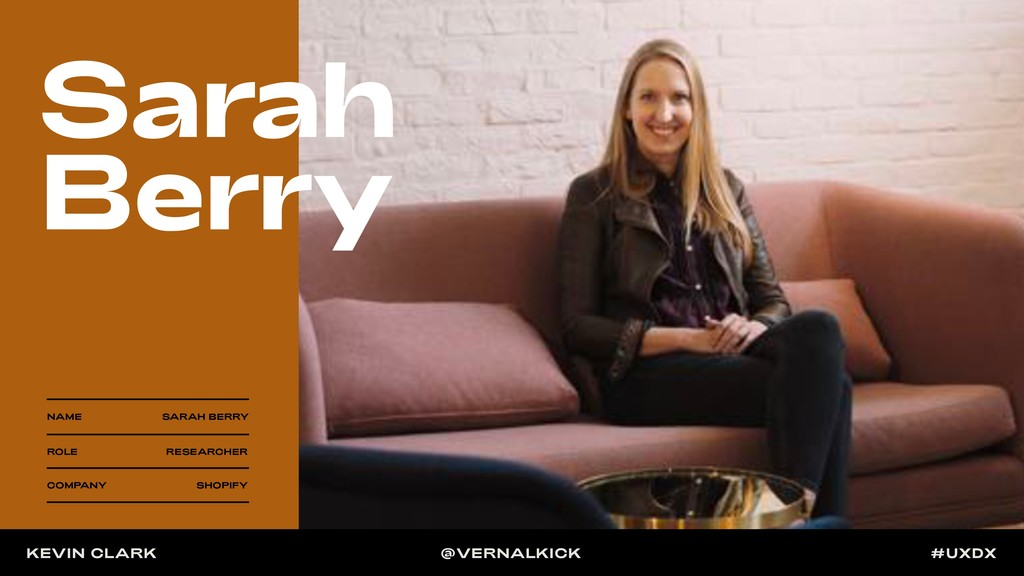 NAME SARAH BERRY ROLE RESEARCHER COMPANY SHOPIF...
