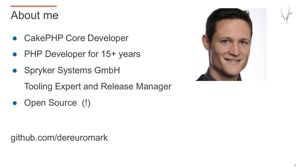 ● CakePHP Core Developer ● PHP Developer for 15...