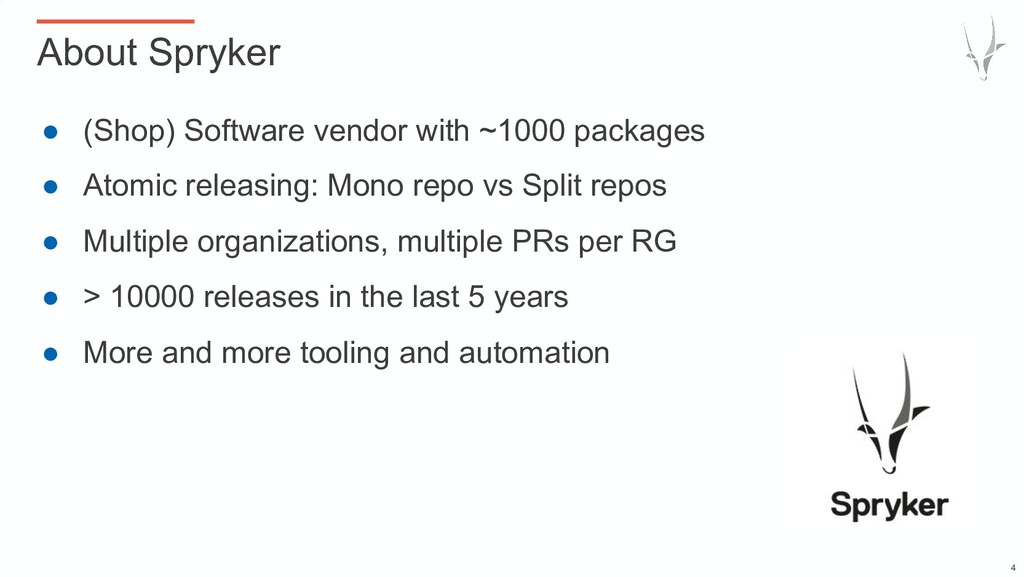● (Shop) Software vendor with ~1000 packages ● ...