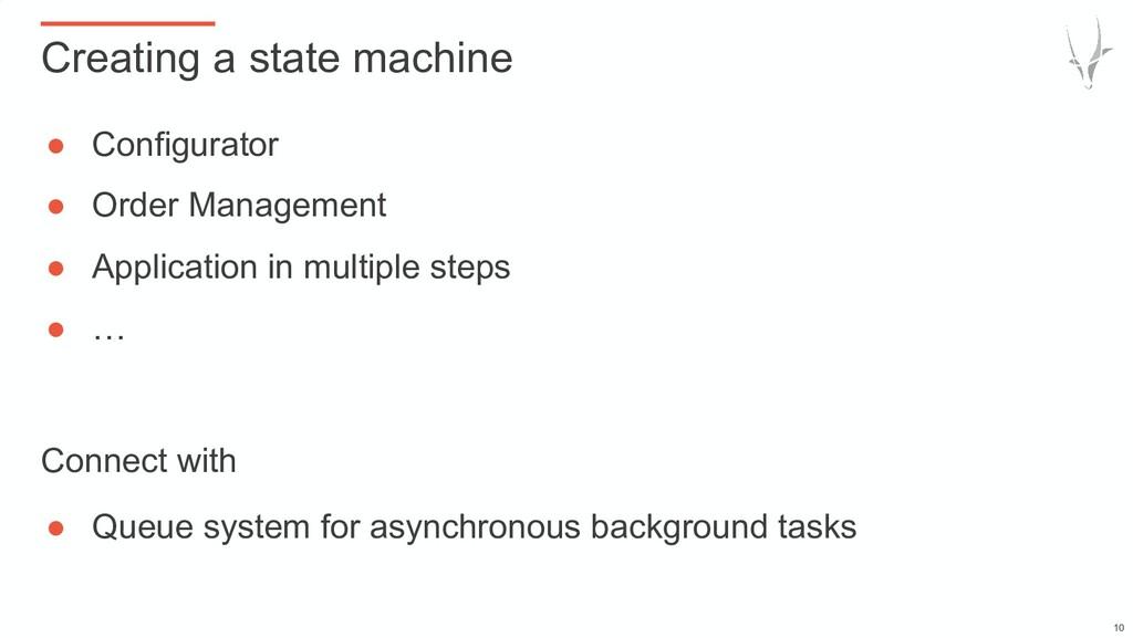 ● Configurator ● Order Management ● Application...
