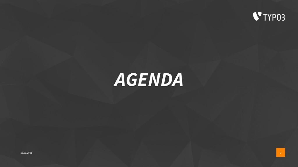 AGENDA 13.01.2021 2