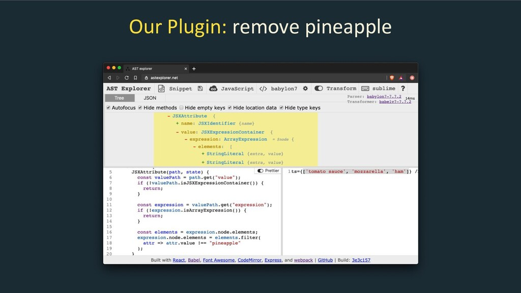 Our Plugin: remove pineapple