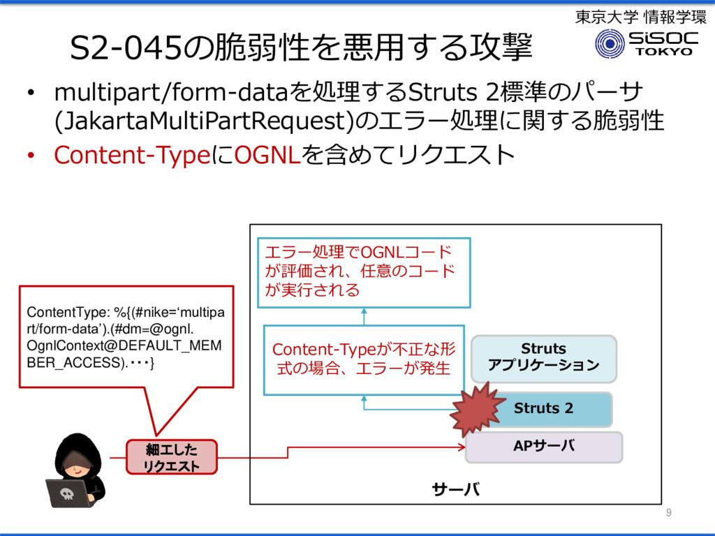 東京大学 情報学環 S2-045の脆弱性を悪用する攻撃 • multipart/form-da...