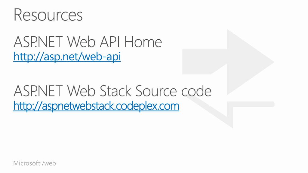 Microsoft /web ® http://asp.net/web-api http://...
