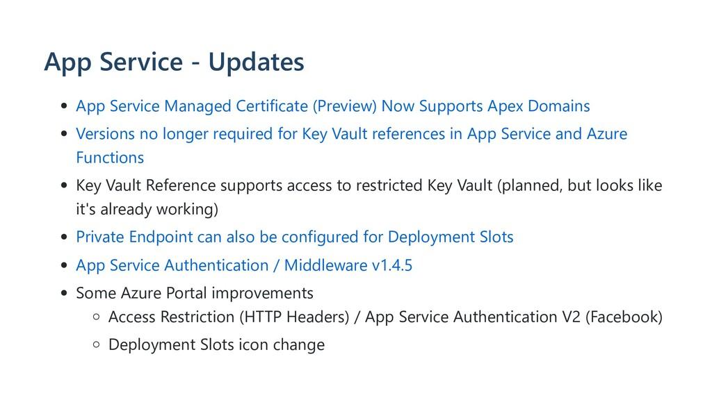 App Service - Updates App Service Managed Certi...