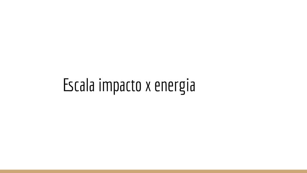 Escala impacto x energia