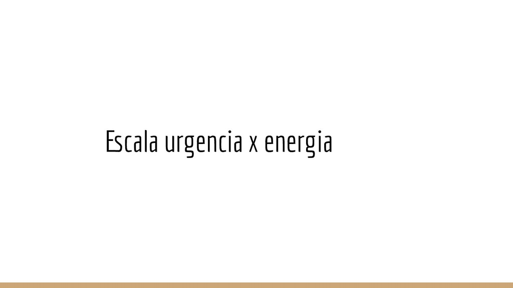 Escala urgencia x energia