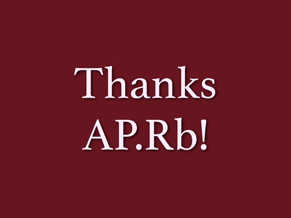 Thanks AP.Rb!