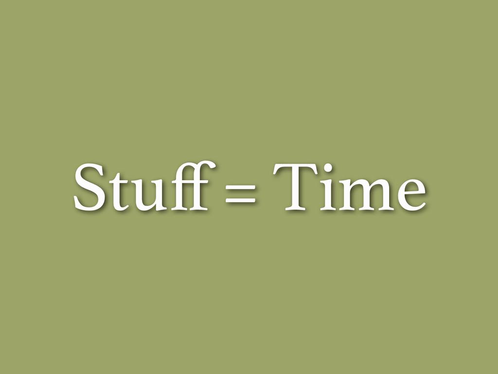 Stuff = Time