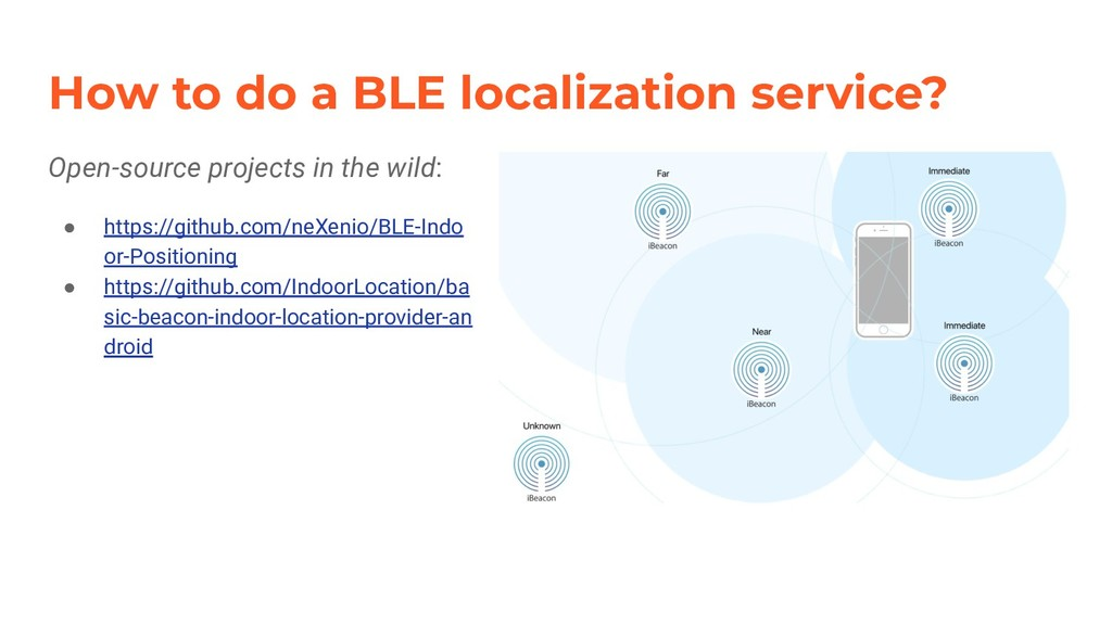How to do a BLE localization service? Open-sour...