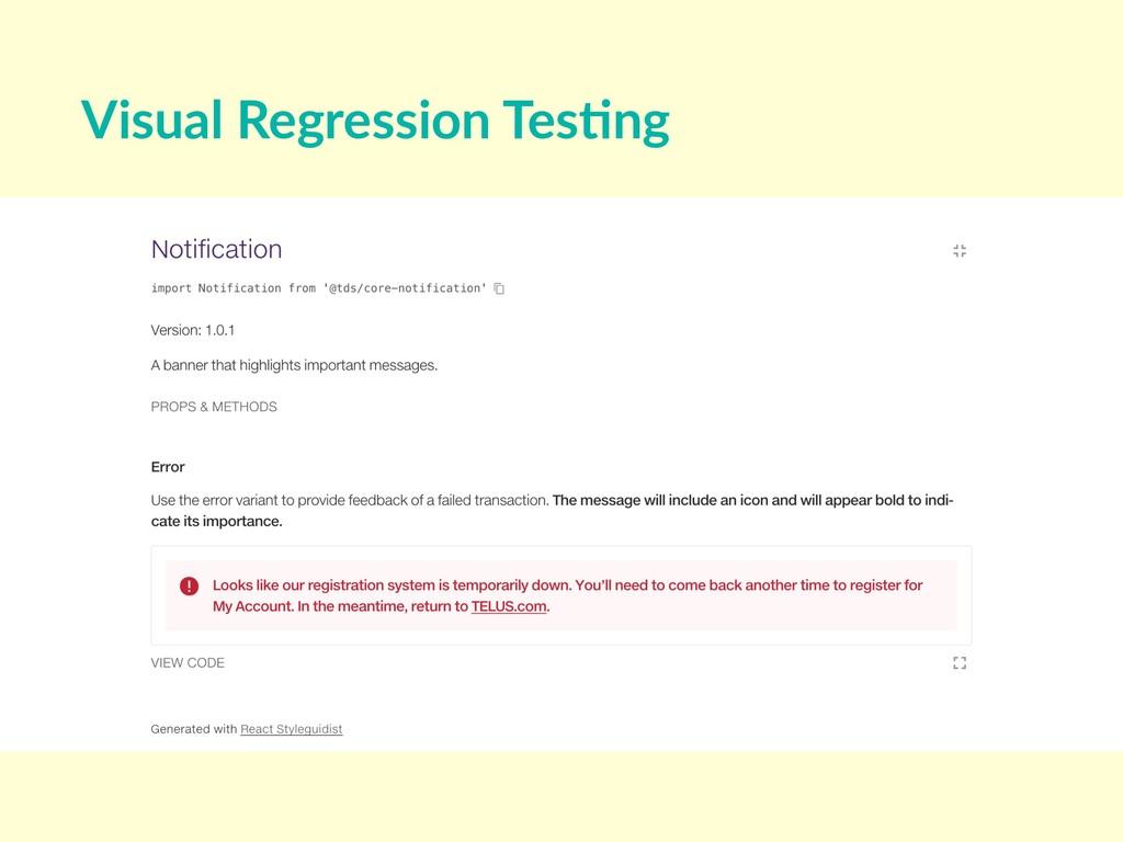 Visual Regression Tes8ng