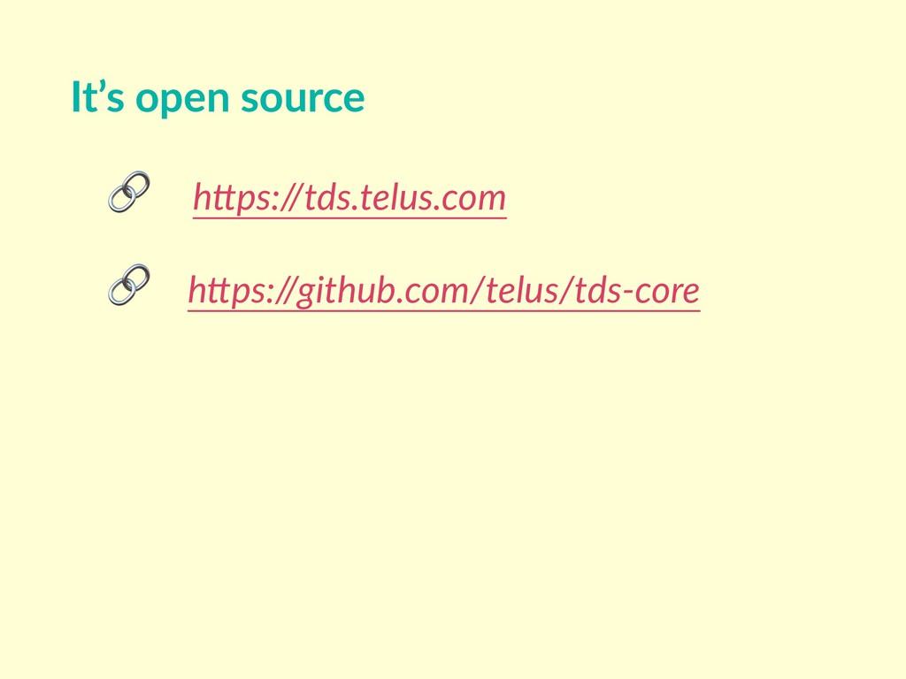 """h""""ps://tds.telus.com  h""""ps://github.com/telus/..."""