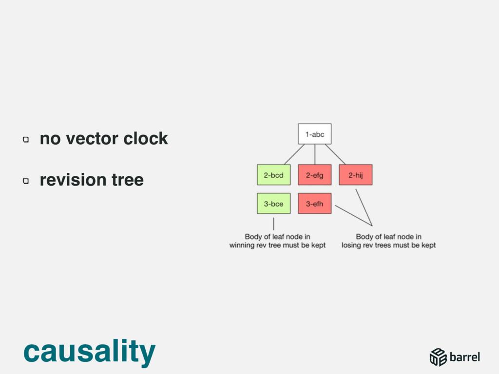 causality no vector clock revision tree