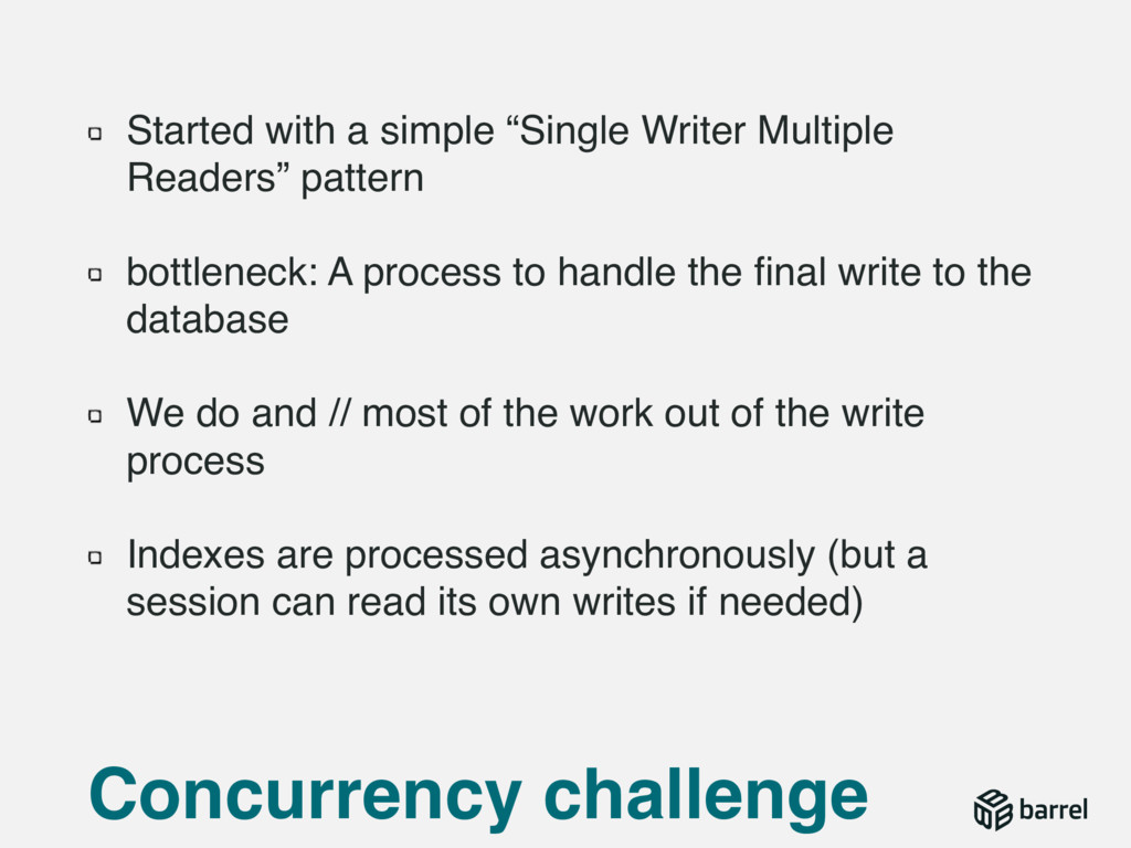 """Started with a simple """"Single Writer Multiple R..."""