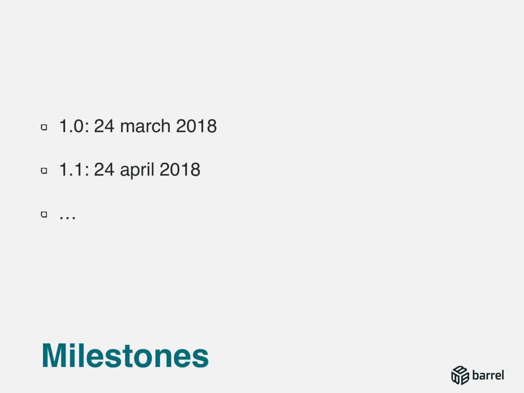 1.0: 24 march 2018 1.1: 24 april 2018 … Milesto...