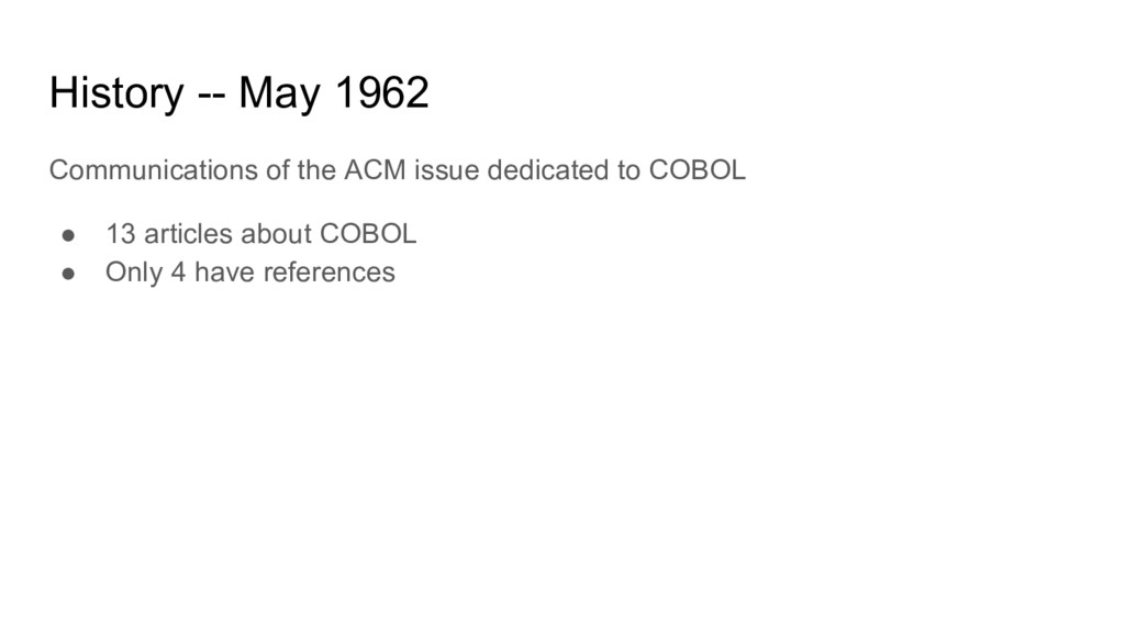 History -- May 1962 Communications of the ACM i...