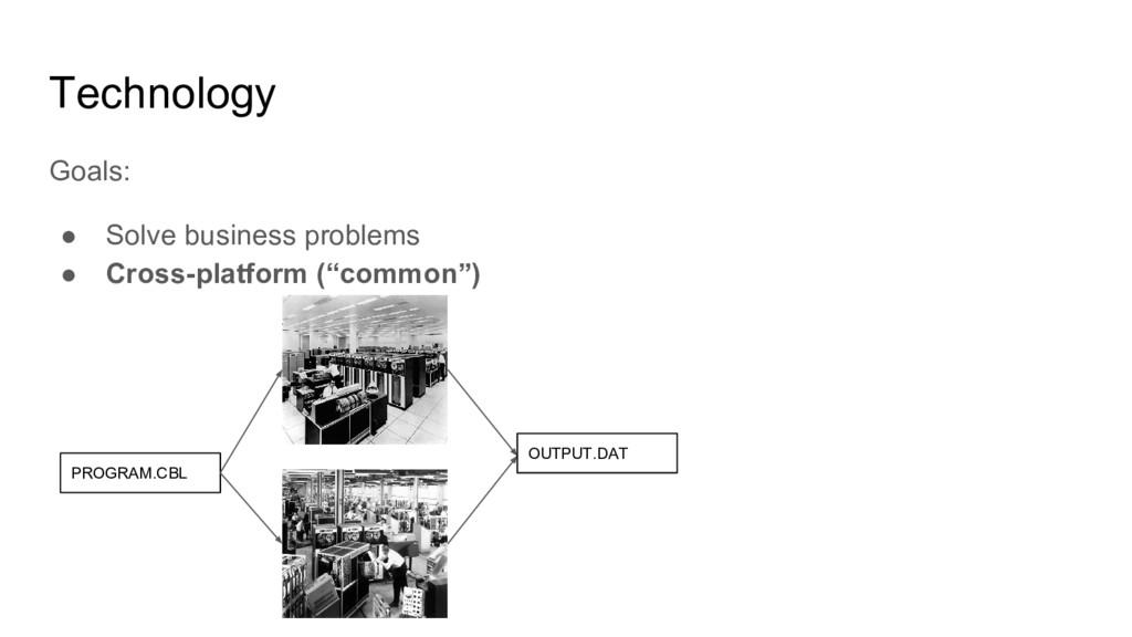 Technology Goals: ● Solve business problems ● C...