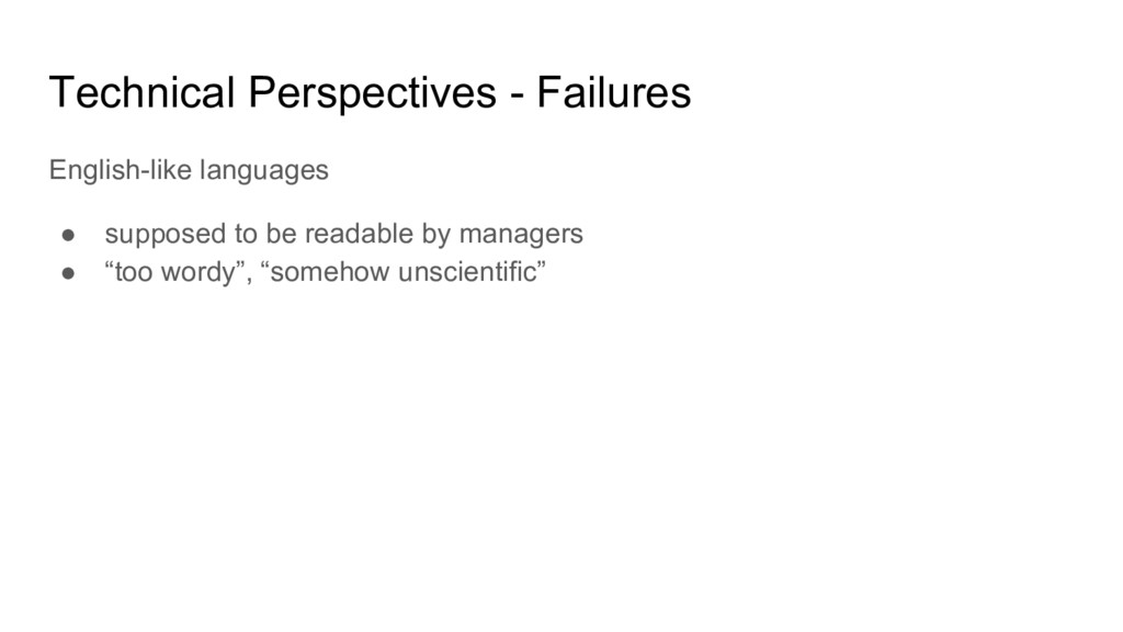 Technical Perspectives - Failures English-like ...