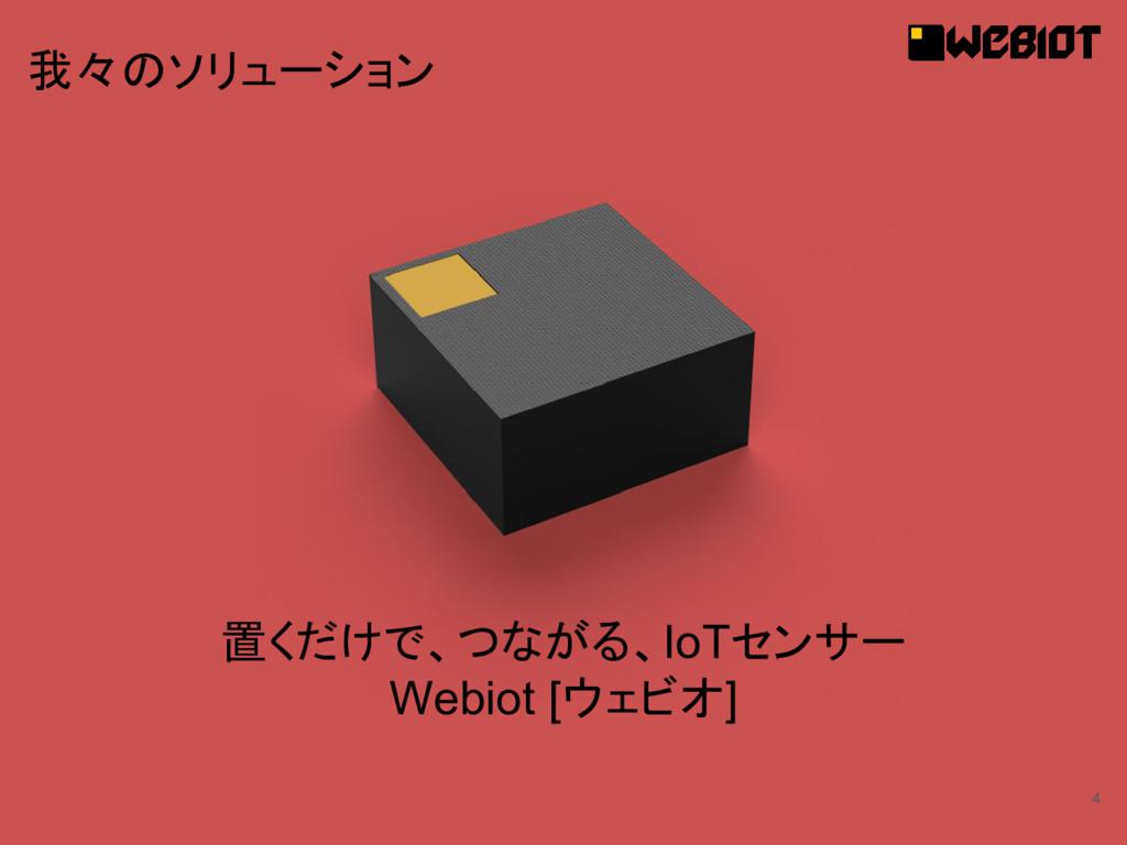 4 置くだけで、つながる、IoTセンサー Webiot [ウェビオ] 我々のソリューション
