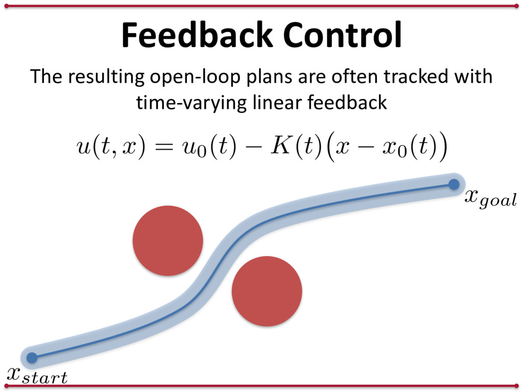 Feedback Control The resulting open-loop plans ...