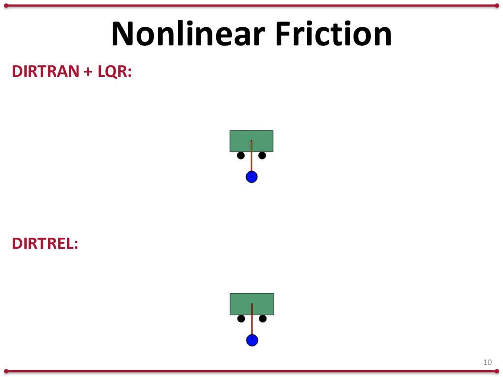 10 DIRTRAN + LQR: DIRTREL: Nonlinear Friction