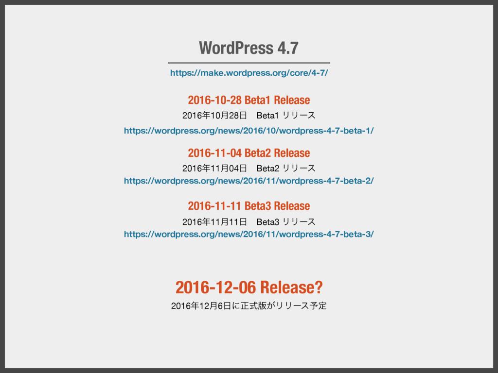 https://make.wordpress.org/core/4-7/ WordPress ...