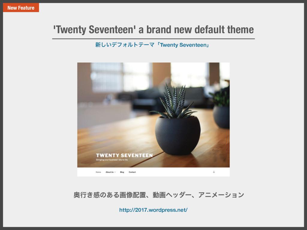 ৽͍͠σϑΥϧτςʔϚʮTwenty Seventeenʯ 'Twenty Seventeen...