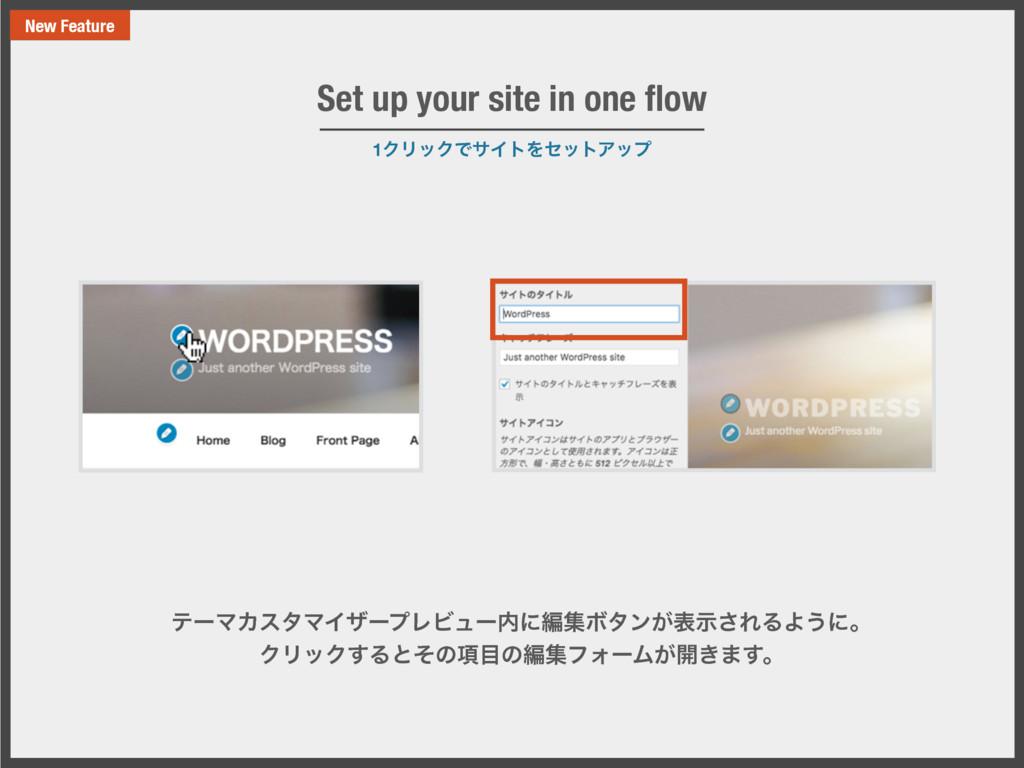 1ΫϦοΫͰαΠτΛηοτΞοϓ Set up your site in one flow ςʔ...