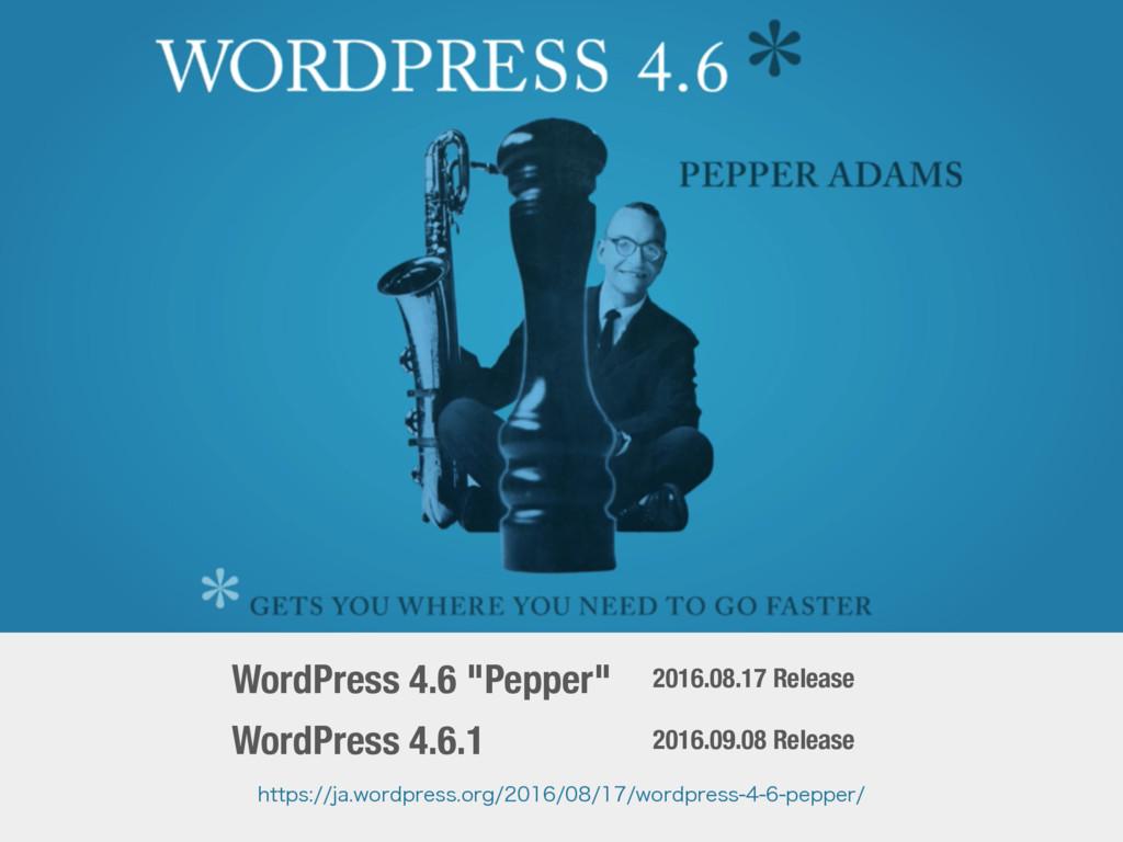"""WordPress 4.6 """"Pepper"""" 2016.08.17 Release IUUQT..."""