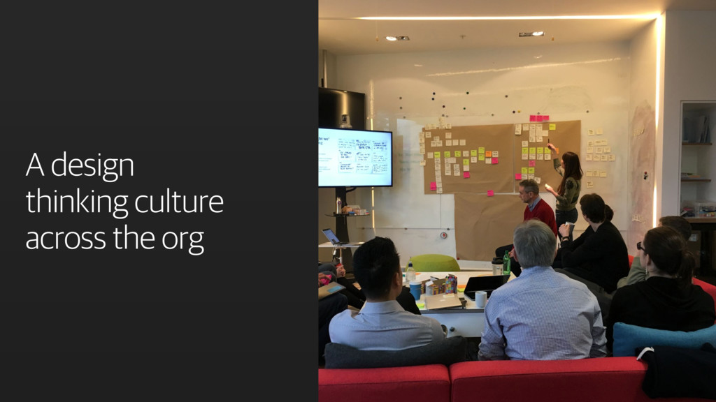 A design thinking culture across the org